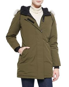 Victoria Fur-Hood Parka Jacket by Canada Goose at Neiman Marcus.