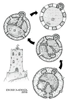 Foto: Another plan. A warlock tower. This time with a different wall design (no lines)...