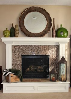 Similar fireplace before look as mine without pedestal.  #ideas. ~T