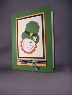 Stampin' Up! Punch Art - Cute St. Patty's Day card!
