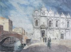 #Keith #andrew - watercolour painting - santi giovanni e paolo, venice. #italy. ,  View more on the LINK: http://www.zeppy.io/product/gb/2/262562128870/