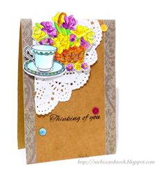 #springclh #stamplorations #coffee #tea #spring