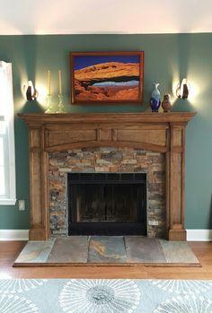 Fireplace Fire Places, House Design, Home Decor, Houses, Dressers, Colors, Foyer Au Gaz, Home Ideas, Fireplace Set