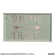 Shop elegant faux rose gold bride tribe design table card holder created by Elipsa. Rose Gold Bridesmaid, Wedding Bridesmaids, Bridesmaid Gifts, Wedding Supplies, Wedding Favors, Wedding Reception, Metal Card Holder, Rose Gold Gifts, Simple Rose