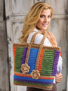 Browse 40 projects in Stress-Free Seamless Crochet: www. Browse 40 projects in Stress-Free Seamless Crochet: www. Crochet Tote, Crochet Handbags, Crochet Purses, Bead Crochet, Crochet Gifts, Free Crochet, Easy Crochet Patterns, Crochet Stitches, Crochet Hair Styles
