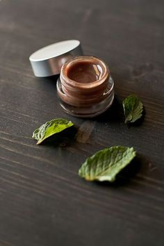 DIY mint chocolate lip gloss.