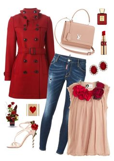 """""""Untitled #190"""" by maurogianni-za ❤ liked on Polyvore featuring Burberry, Dsquared2, Lanvin, Dolce&Gabbana, Yves Saint Laurent and Bella Bellissima"""