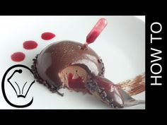 Glazed Chocolate Mousse Dome with Raspberry Sauce Pipette by Cupcake Savvy's Kitchen - YouTube