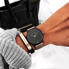PAUL HEWITT | perfect combination | watches for her | bracelets | signum | inspiration | black | fashion | photo by conniespace