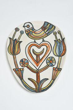Roger Capron; Glazed Ceramic Plaque, 1950s.