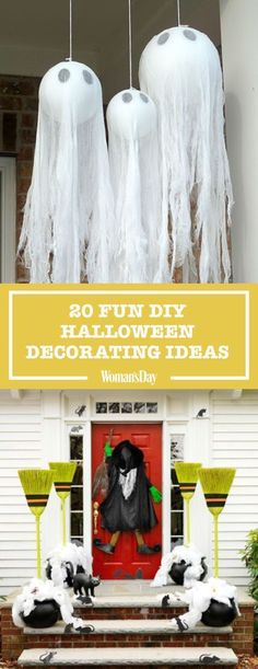 40+ Easy DIY Halloween Decoration Ideas - Homemade Halloween Decor Projects #halloweendecorationideas #halloweendecorating & 19 Halloween Door Decorating Ideas that are Hauntingly Awesome via ...