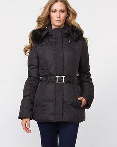 Nylon Down Filled Puffer Coat