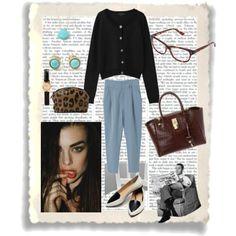 『黒カーディガンにブルー系を合わせて、爽やかに知的に女らしく。』misaさんの提案する着こなし/コーディネート