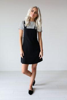 Black Overall Dress