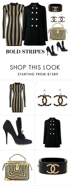 """""""BOLD STRIPES... Contest Entry 01/17"""" by jbeb ❤ liked on Polyvore featuring Balmain, Chanel, Dolce&Gabbana and Fendi"""