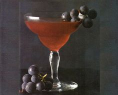 The Heirloom: Concord Grapes, Lime Juice, Old Tom Gin, Cynar, Strega, Anise Hyssop Essence.