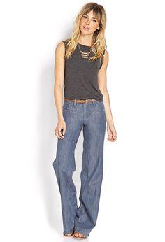 Life in Progress Wide-Leg Jeans | FOREVER21 #F21Contemporary #Denim