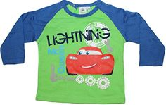 Cars - Camiseta de manga larga para bebé y niño, diferentes colores y tallas verde/azul Talla:86cm (23 Monate) #camiseta #friki #moda #regalo