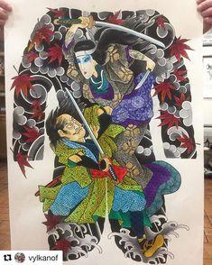 #Repost @tianyu_gaochao 🙏🙏 #irezumi #tattoo #tattoosketch #japanesetattoo #japanesetattoodesign #wabori #tattoodesign #horimono… Japanese Tattoo Art, Japanese Tattoo Designs, Back Piece Tattoo, Body Painting, Font Art, Japan Tattoo, Blossom Tattoo, Disney Tattoos, Tattoo Fonts