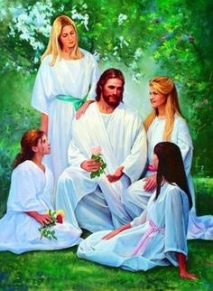 Christ and Young Women by Del Parson
