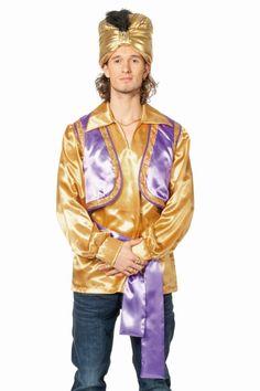 Herren Kostüm Orient Sultan Hemd in gold #Karneval...