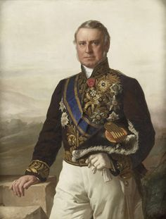 Portret van Charles Ferdinand Pahud (1803-73). Gouverneur-generaal (1855-61).  Onderdeel van een reeks van portretten van de gouverneurs-generaal van het voormalige Nederlands Oost-Indië