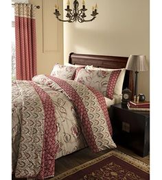 buy now   £20.89   The Kashmir bedroom range from Catherine Lansfield is the ideal choice for a traditionally styled bedroom decor. This quilted bedspread features a mixture of floral and striped  ...Read More
