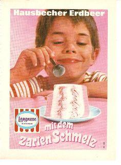 Glückliche Kinderaugen :)  Werbung für Langnese Eis von 1969