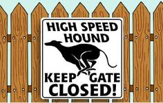 High Speed Hound KEEP GATE CLOSED! Image