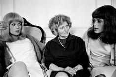 Catherine, Mom(Renee Deneuve), and Francoise Catherine Deneuve, Vintage Hollywood, Classic Hollywood, New Wave Cinema, Jacques Demy, G Photos, Ethereal Beauty, Creative Video, Brigitte Bardot