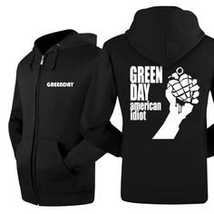 Green Day classical logo new jacket zip-up hoodie