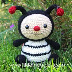 Dottie the ladybug amigurumi crochet pattern by Little Muggles
