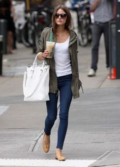 How To Wear Olivia Palermo Military Jacket 2017 Street Style