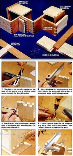 Dovetail Technique - Joinery Tips, Jigs and Techniques | WoodArchivist.com