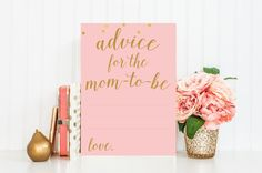 Advice for Mom-To-Be Printable Card  Instant by PrettyCollected