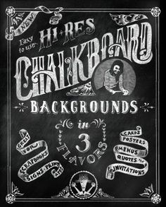 Chalkboard Backgrounds in 3 Flavors