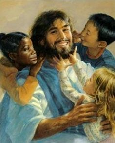 Jesus Loves All the Little Children and They are Precious in His Sight. - You are Precious and You are Truly Loved by the Lord Jesus Christ, also. Jesus Smiling, Jesus Laughing, Pictures Of Christ, Religion, Jesus Painting, Jesus Face, The Good Shepherd, Jesus Loves You, Jesus Is Lord