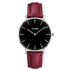 Hodinky Cluse La Bohéme Silver Black/Marsala 2409 Kč