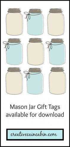 Mason Jar Gift Tag Printable | creativecaincabin.com