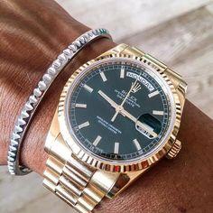 Rolex Day-Date and 7D Line bracelet http://7dline.googold.com/products/?lang=en