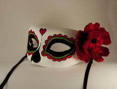 Day of the dead mask. Frida Kahlo inspired. by CamillaLimon