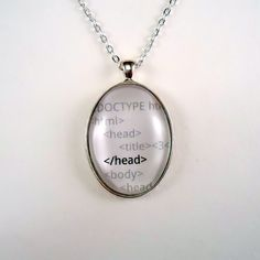 HTML necklace #jewelry #geek #nerd