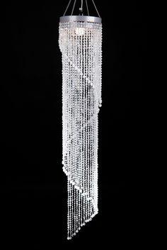 Chandelier Chelsea Swirl Crystals- Crystal Iridescent - 4 ft