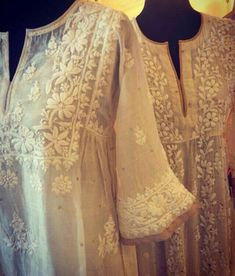 Get chikankari suits & kurtas at Shipping worldwide. Pakistani Dresses, Indian Dresses, Indian Outfits, Indian Attire, Indian Ethnic Wear, India Fashion, Ethnic Fashion, Kurta Designs, Blouse Designs