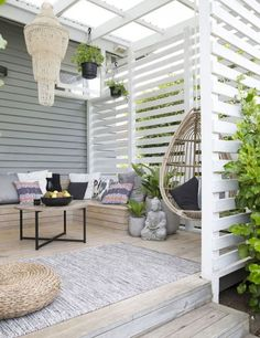 These free pergola plans will help you build that much needed structure in your backyard to give you shade, cover your hot tub, or simply define an outdoor space into something special. Building a pergola can be a simple to… Continue Reading → Outdoor Decor, Outdoor Space, Outdoor Rooms, House Exterior, Exterior Design, Deck Design, Outdoor Design, Weatherboard Exterior