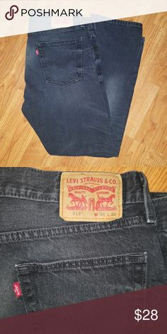 "EUC! LEVI'S 513 Dark Wash Black/gray dark wash men's jeans. 34""×30"" Levi's Jeans"