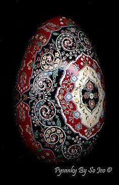 Nfac Persian Tree of Life Pysanka Pysanky Ukrainian Easter Egg Batik EBSQ Sojeo   eBay