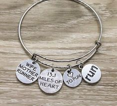 Mom Jewelry, Jewelry Gifts, Bangle Bracelets With Charms, Bangles, Running Jewelry, Motivational Gifts, Meaningful Jewelry, Dainty Necklace, Black Velvet