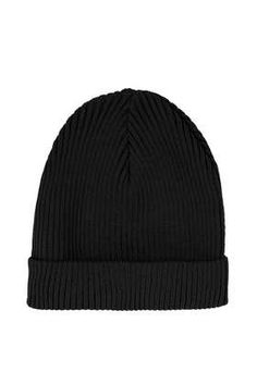Black Turnup Beanie - Accessories - New In  - Accessories
