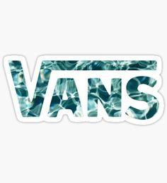 Vans Logo Water Sticker